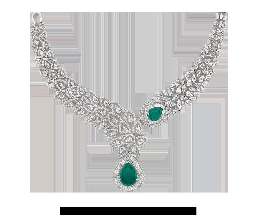 Download Diamond Necklace PNG Transparent Picture